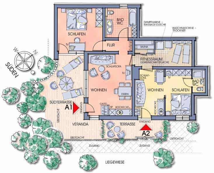 helle und funktionelle grundrisse im apartment oberfeld